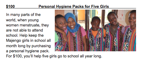 Personal Hygiene Packs for Five